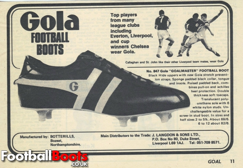 finest selection b0b56 6c4d7 Classic Gola Somewhat needless to say, such boots involved a smooth leather  upper and a very basic Gola Speedster ...