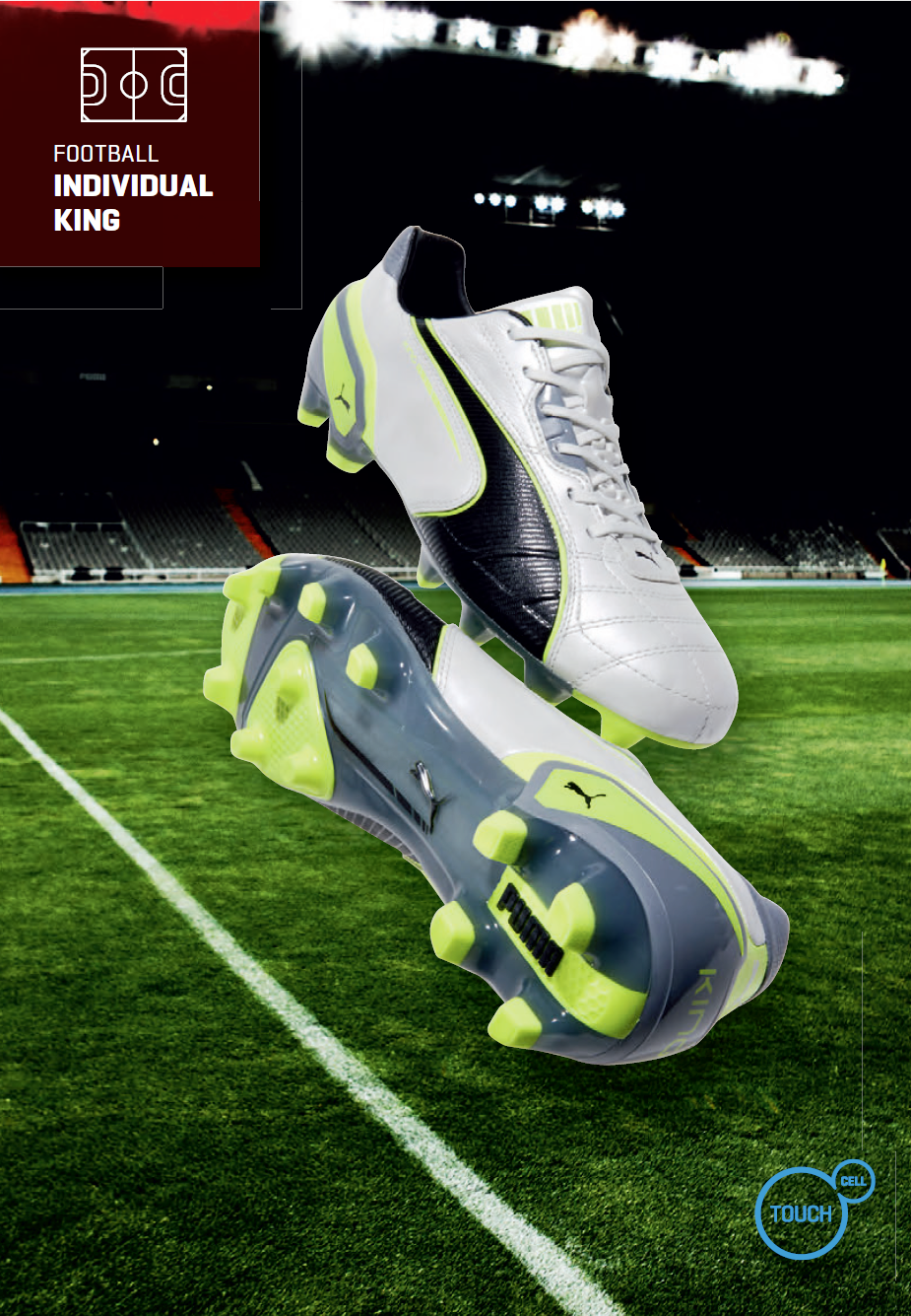 Puma King Football Boots in White / Black / Yellow ...